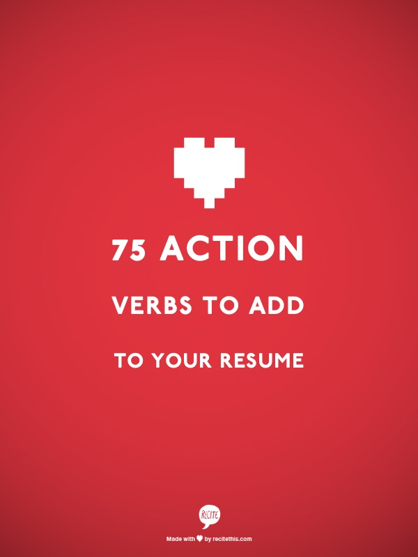 75 action verbs to add to your resume splash resumes