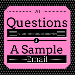20 Questions For An Informational Interview (Plus A Sample Email)