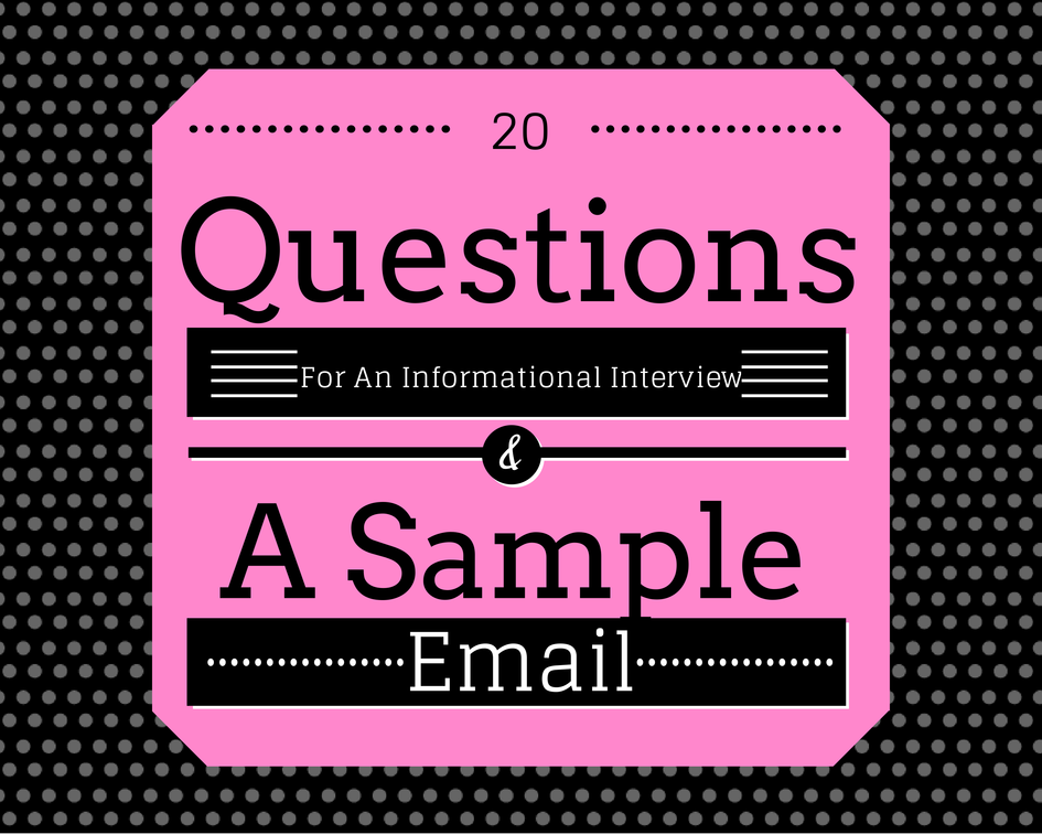 how to write an informational interview email